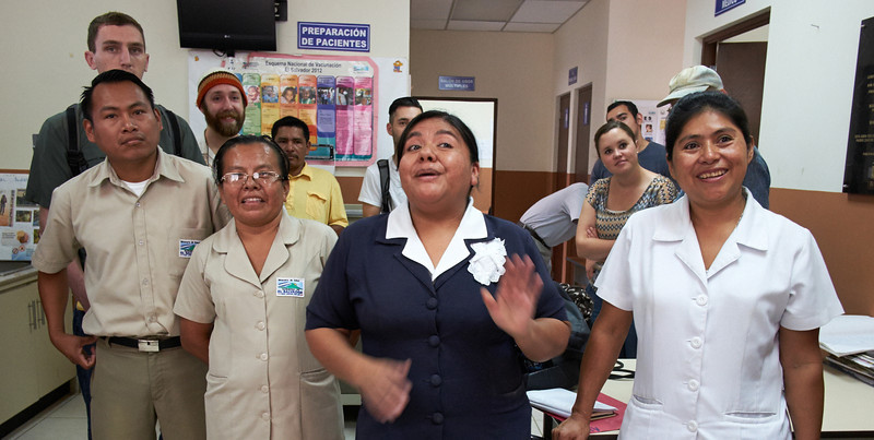 Staff at the clinic addresses delegates.