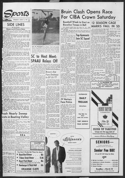 Daily Trojan, Vol. 46, No. 98, March 16, 1955