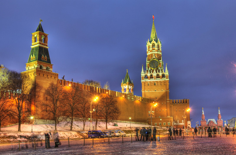 Spassky Tower of the Kremlin, Moscow, Russia. (HDR)