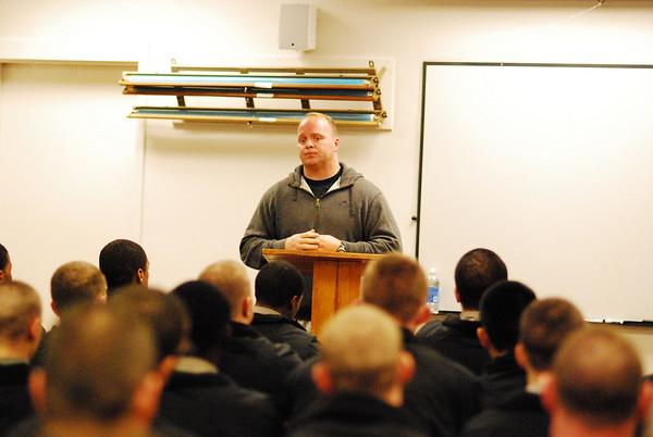 Olympian Addresses Cadets