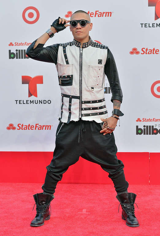 . MIAMI, FL - APRIL 25:  Taboo of The Black Eyed Peas arrives at Billboard Latin Music Awards 2013 at Bank United Center on April 25, 2013 in Miami, Florida.  (Photo by Gustavo Caballero/Getty Images)