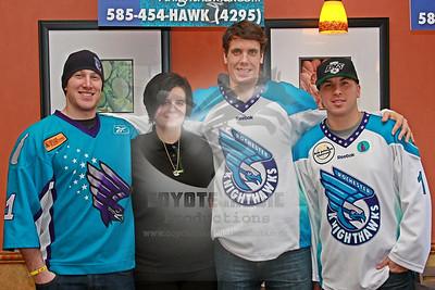 2/2/2013 - Rochester Knighthawks Joe Walters, Dan Dawson & Tyler Burton autograph signing - Perinton Mall Subway, Fairport, NY