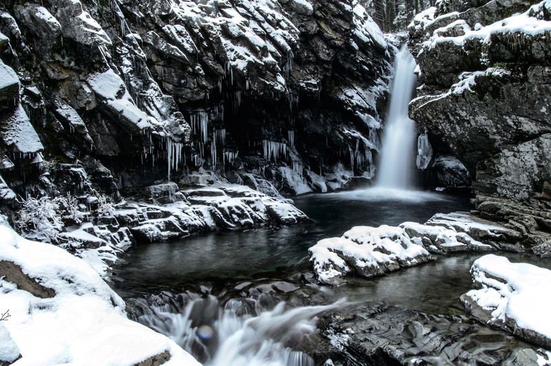 North Fork Falls in Winter