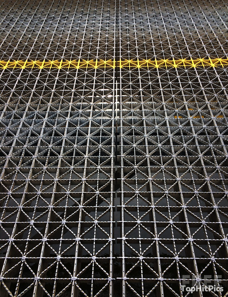 Metal Grid Patterns On The Uhlerstown-Frenchtown Bridge, New Jersey, USA
