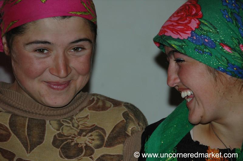 Pamiri Young Women - Garm Chashma, Tajikistan