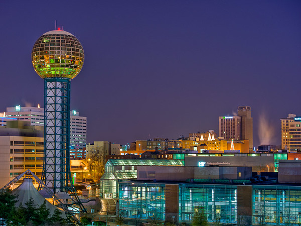 Night HDR Images of Knoxville TN