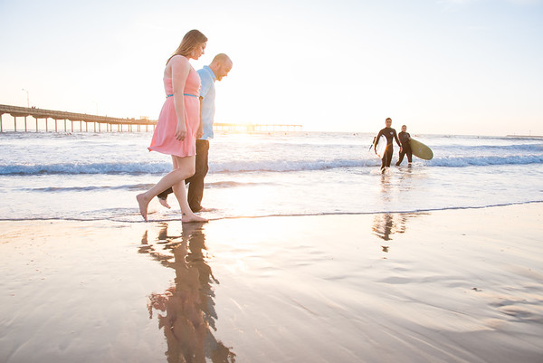 Sunset Cliffs Ocean Beach Pier Engagement & Wedding Photographer