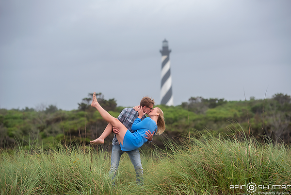 Trey and Megan's Surprise Proposal, Cape Hatteras Lighthouse