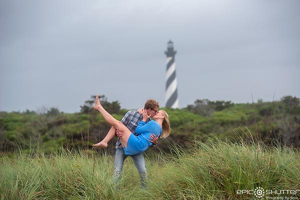 Trey and Megan's Surprise Proposal, Cape Hatteras Lighthouse