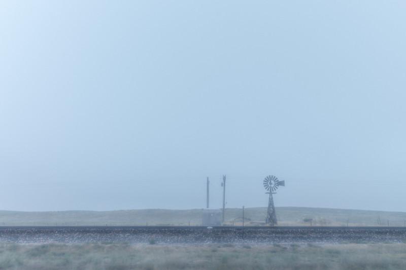 Daybreak.  Still foggy.