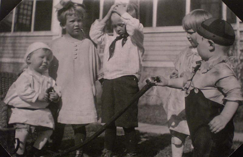 . Reports BBA FROM UP AND AWAY: �I laughed so hard when I found this great photo of my mother-in-law, her brother and cousins. She was born in 1918, so I figure it was taken in 1922. They look so much like the Little Rascals, don�t they? On the left is Uncle Ken, who will be 91 at the beginning of May. Next to him is my mother-in-law, Dor Auten, who is deceased. The chubby fellow on the right is cousin John Bohmer, from Brooten, Minn. � who was always a very thin man! Uncle Ken is a former newspaper reporter and would be surprised to see this photo.�