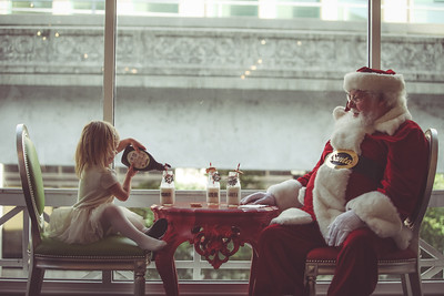 McKinley and Taylor meet Santa at Sweet Pete's Candy Shop