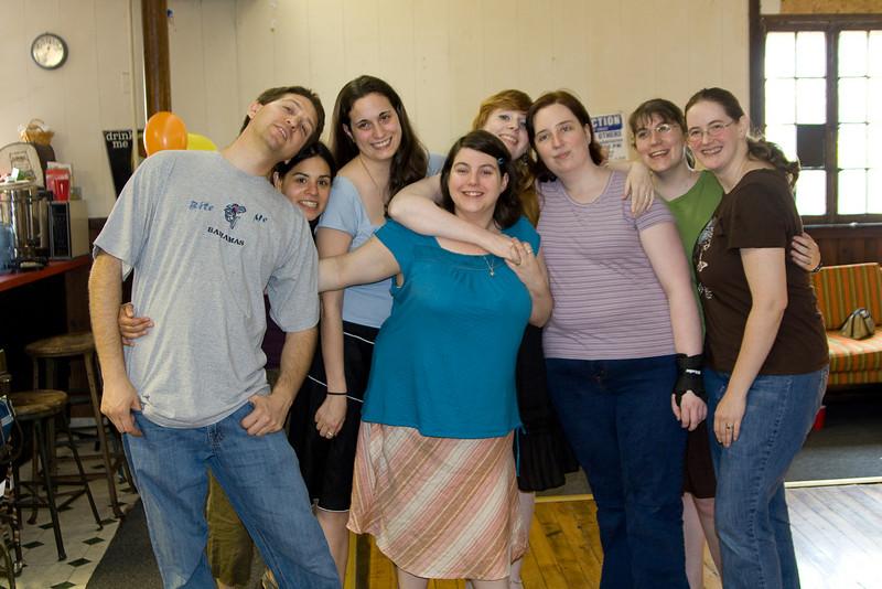 Dan, Jenn, Liz, Shannon, Sarah Beth, Mindy, Laura, and Deb