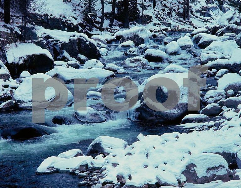 Icicle Creek in the winter near Leavenworth, WA