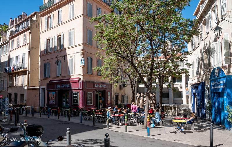 Marseille, France: Neighborhood plaza