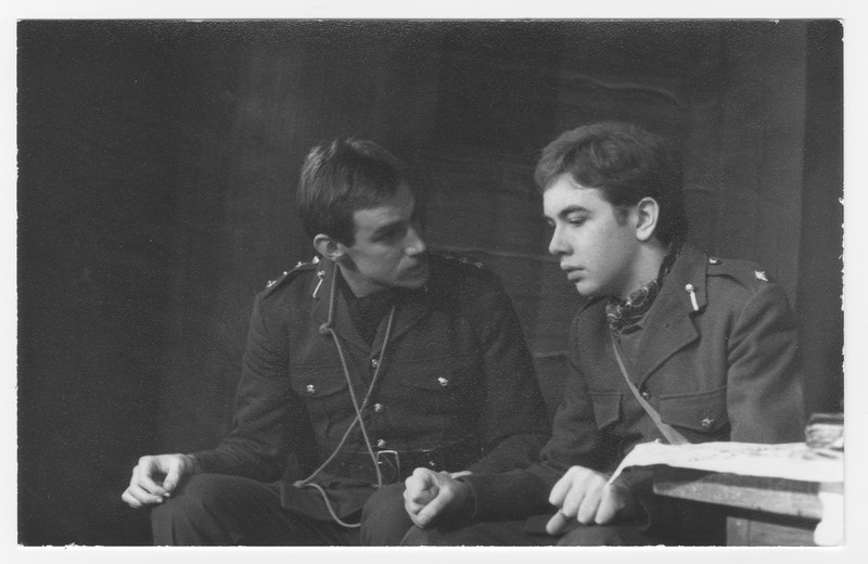 Nick Frost and Matthew Banister in 'Journey's End', 1975