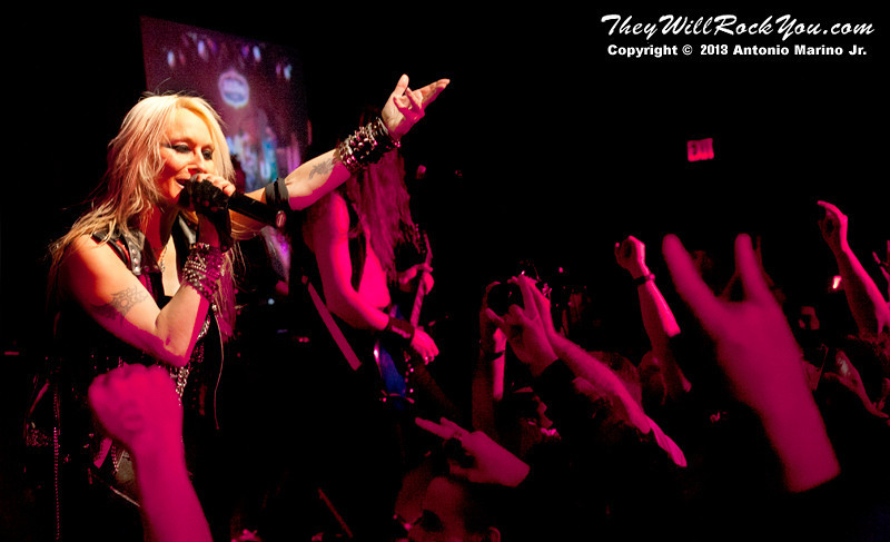 """Doro Pesch performs on February 4, 2013 during her tour in support of """"Raise Your Fist"""" at BB Kings in New York, NY"""