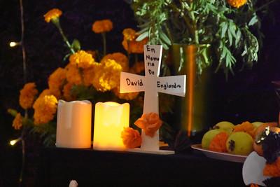 11-01-2020 Dia de los muertos altars at sunset/dark