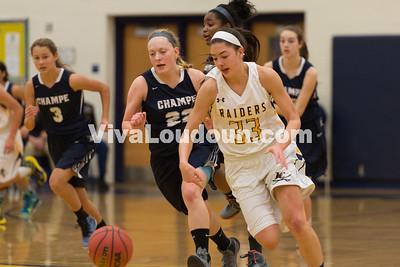 Girls Basketball: Loudoun County vs. John Champe 1.19.16 (by Chas Sumser)