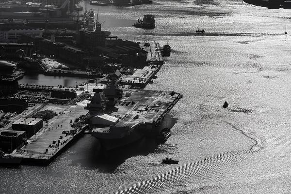HMS QUEEN ELIZABETH alongside HMNB Portsmouth