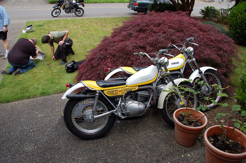 Two of Steve's trials machines.  He has four.