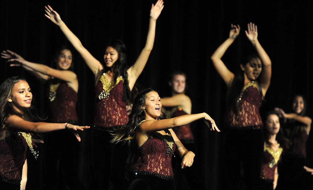 . Atla Loma High school dance team performs during the 91st Annual L.A. County Fair in Pomona, Calif. on Thursday, Sept. 5, 2013.   (Photo by Keith Birmingham/Pasadena Star-News)