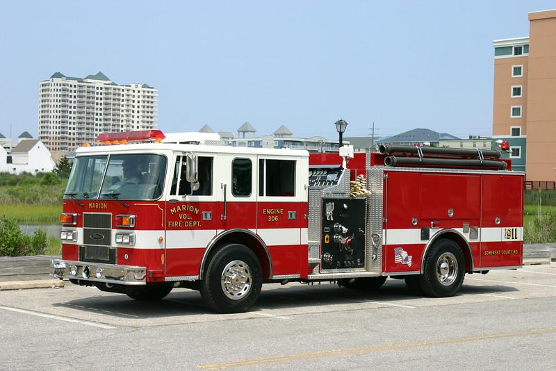 Marion Fire Co. (Somerset Co.) Engine 306: 1998 Pierce Saber 1250/1000