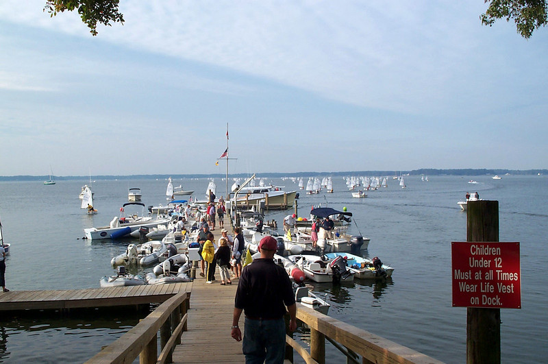 Fishing Bay Dock as Optis head out for racing on Sunday.