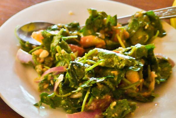 Pennywort salad in Bagan, Burma (Myanmar)
