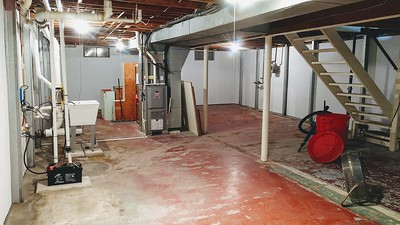 Completed Basement Dr. Work