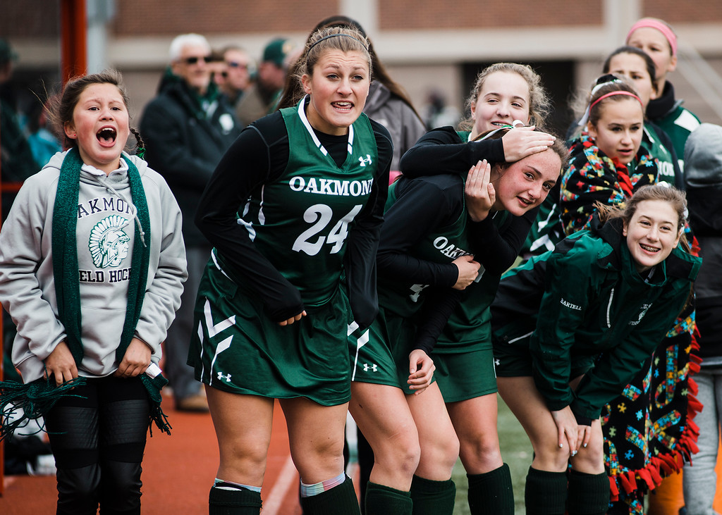 . Oakmont Regional in action during the 5-1 state championship loss to Watertown at WPI on Saturday, November 18, 2017. SENTINEL & ENTERPRISE / Ashley Green