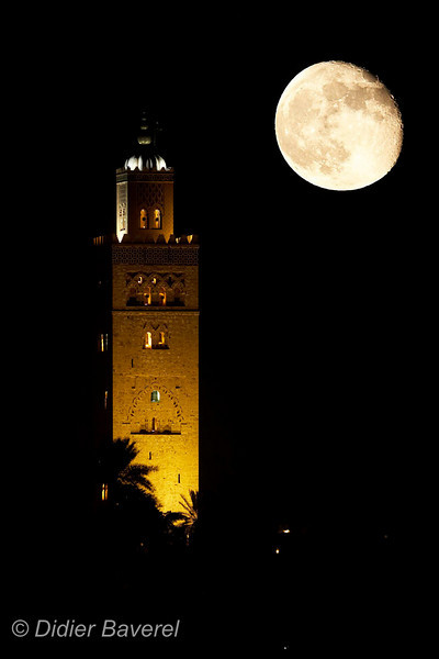 MARRAKECH  LE 10/09/2006  Koutoubia nuit  ©D. BAVEREL - STARFACE