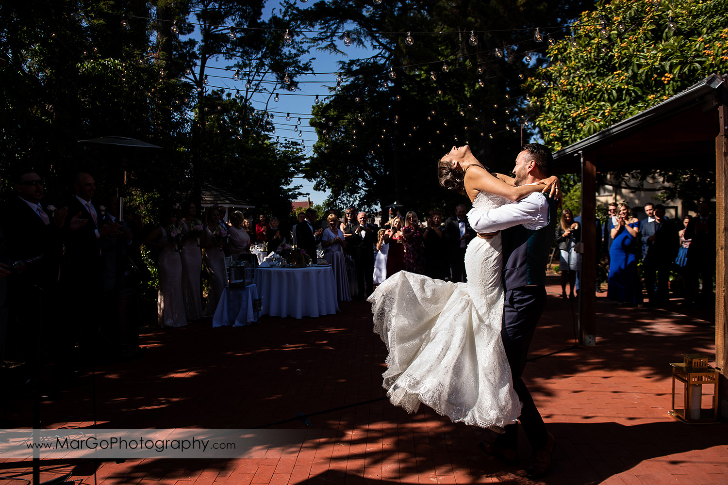 firts dance of bride and groom during wedding reception at San Pablo Rockefeller Lodge