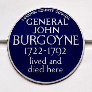 Gen. John Burgoyne Home * and Grave *