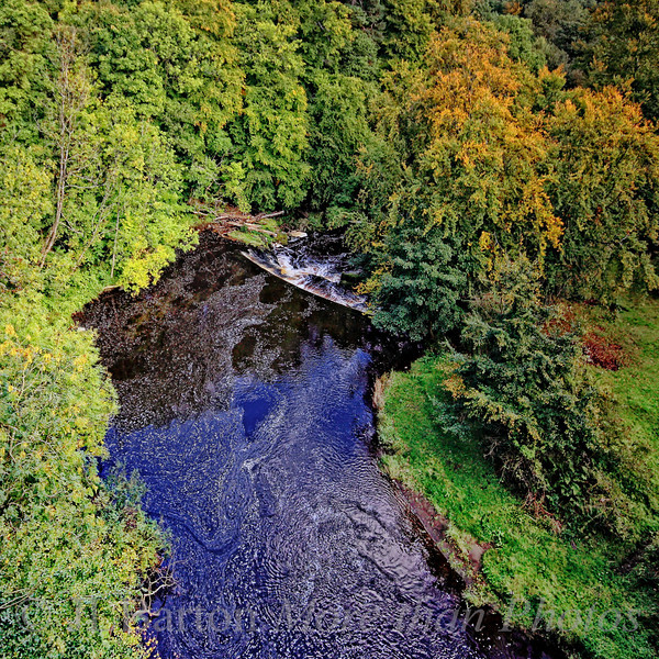 The Avon River, as seen from the aqueduct, near Linlithgow, Scotland