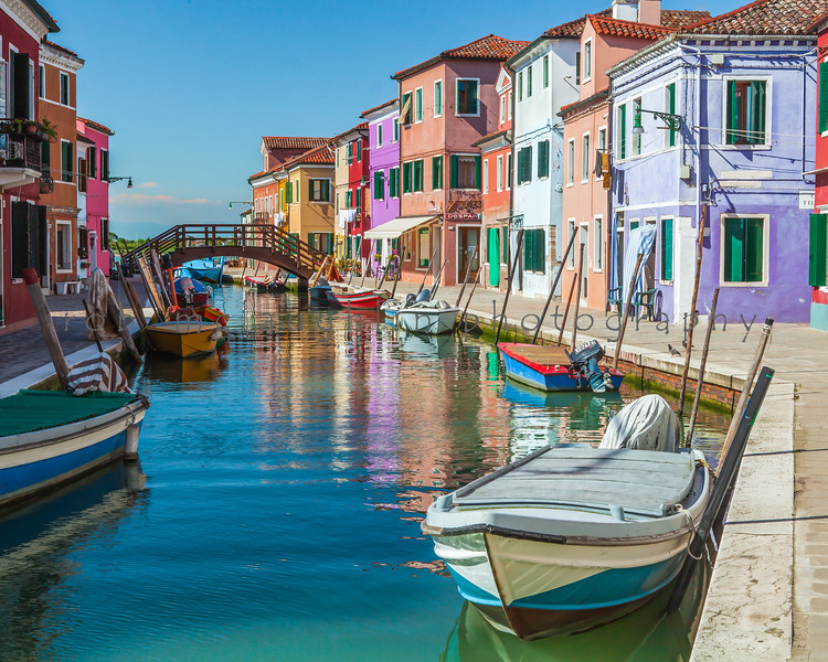 $90 - Boat and Canal Colors , Burano , Veneto