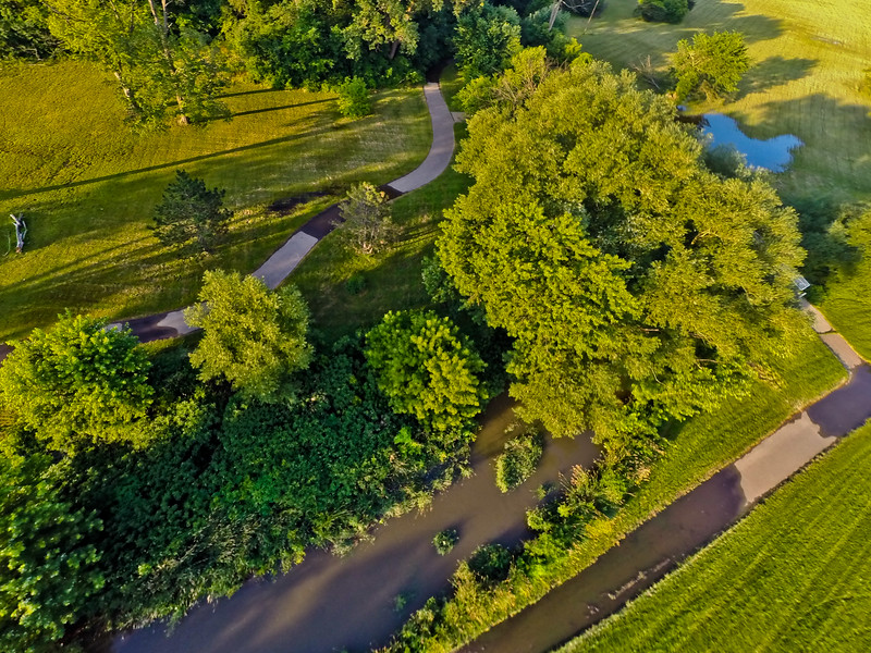 Summer Sunset at the Park 14 : Aerial Photography from Project Aerospace