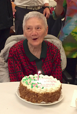Aunt Marie is 90!