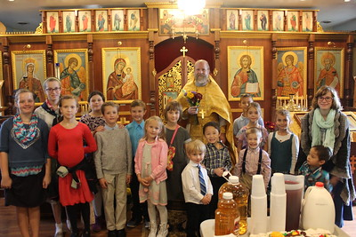 Parish Children Congratulate Fr. Gregory on His Birthday