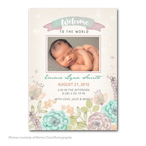 Girl Birth Announcements