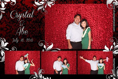Crystal & Abe's Wedding (LED Open Air Photo Booth)