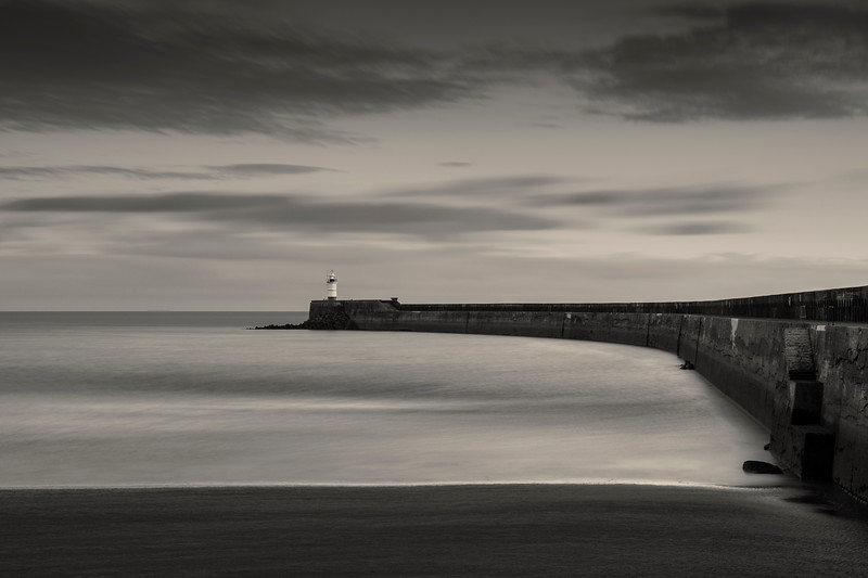 Lighthouse and Breakwater in Newhaven, East Sussex