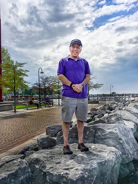 Mike Schappa enjoying the harbor.