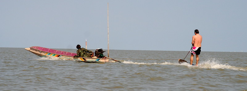 Peter hangs 10 in the Gulf of Thailand