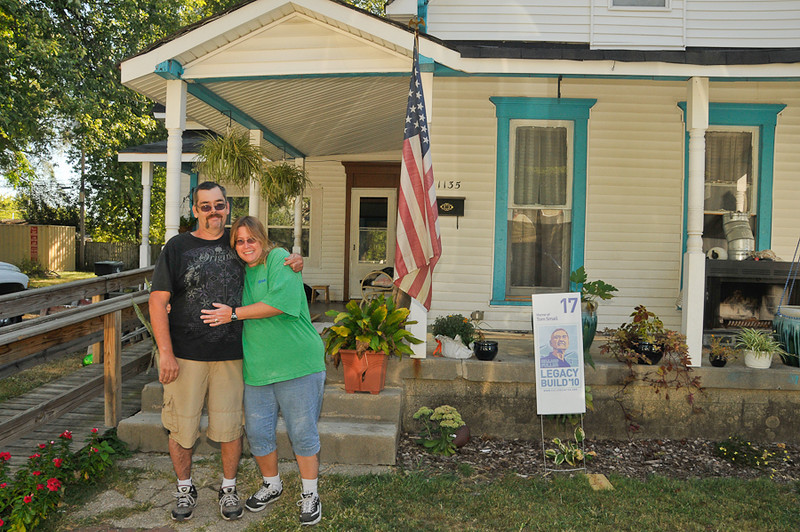 10 09-10  Tom and Rose Small are happy about their home improvements. Energy efficient windows will be installed soon. mlj