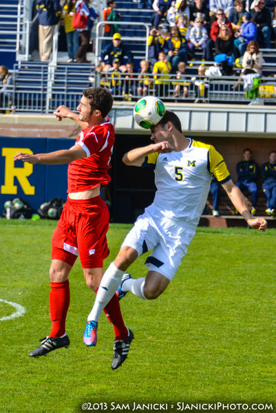Best of UM Men's Soccer Vs Wisconsin 10-20-13