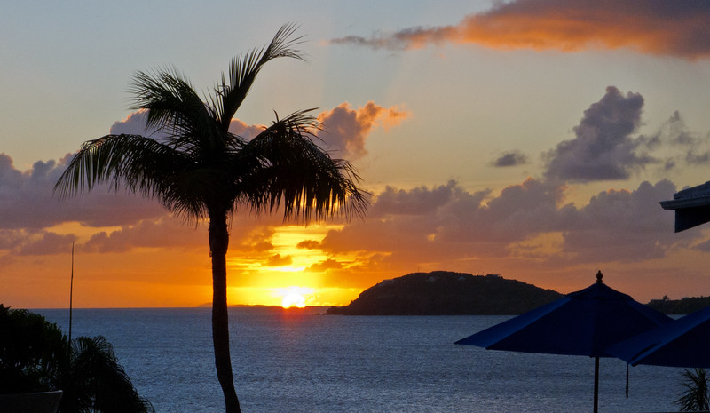 Sunset seen from Frenchman Reef hotel, St Thomas