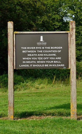 Carton House -  Montgomery Course sign at 1st tee