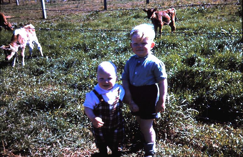 1960-8 (5) Louise 14 mths & Tony 2 yrs 9 mths.JPG