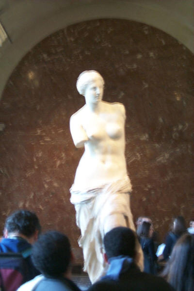 Venus de Milo in Louvre Museum - Paris, France